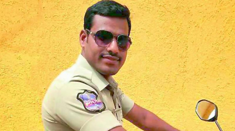 constable and his two months old son died in road accident